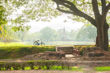 bicycle in the historical park