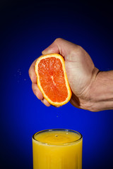 Fresh Squeezed Orange Juice with Copy Space
