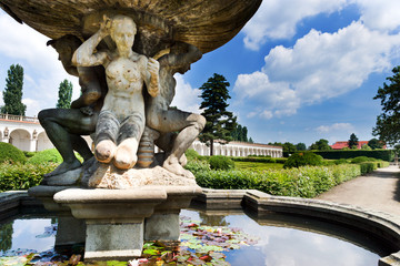 Flower gardens (UNESCO), Kromeriz, Czech republic