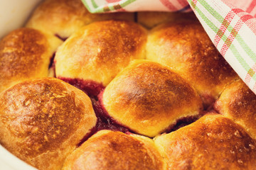 Buns made with sweet yeast dough