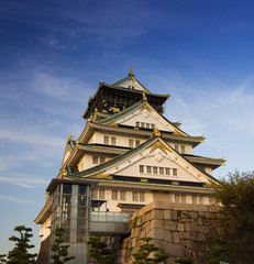 osaka castle  in Kyoto, Japan