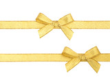 Fototapety Golden ribbon and bow isolated