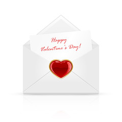 Valentines day envelope