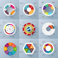 Set of Infographics vector design template