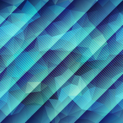 Abstract green geometric pattern with strikes