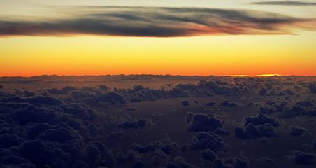 nuages ,,,vue aérienne