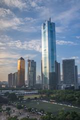 CBD of Guangzhou city