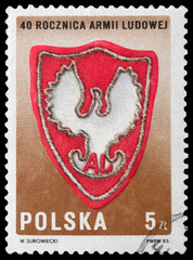 Emblem of polish People's Army
