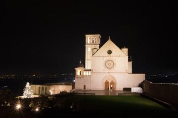 Basilica di San Francesco ad Assisi a Natale