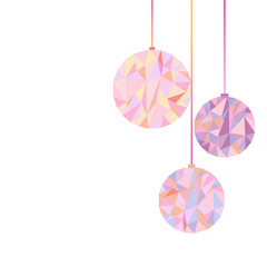 polygonal new year christmas ball
