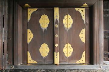 wood gate of a house