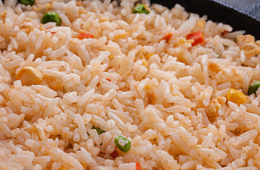 Rice with vegetable