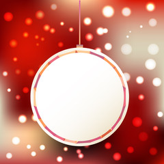 new year christmas gift card illustration with ball