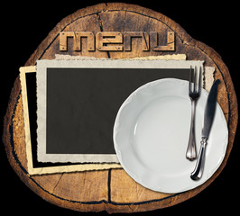 Rustic Menu Background