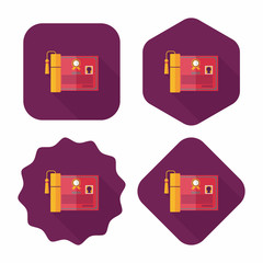 diploma flat icon with long shadow,eps10