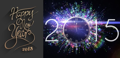 Composite image of classy new year greeting