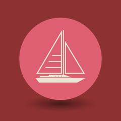 Yacht symbol, vector