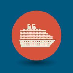 Cruise Ship symbol, vector