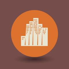 Skyscraper symbol, vector