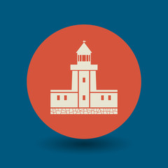 Lighthouse symbol, vector