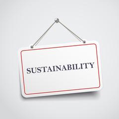 sustainability hanging sign