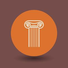 Antique architecture symbol, vector