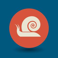 Snail symbol, vector