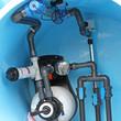 Leinwanddruck Bild - Swimming pool plumbing