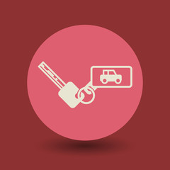 Car keys symbol, vector