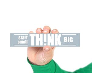 start small think big concept