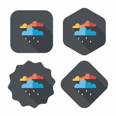 rain flat icon with long shadow,eps10
