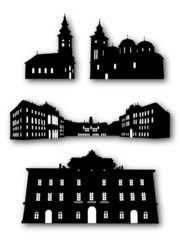 Colection of Building Silhouettes Vector