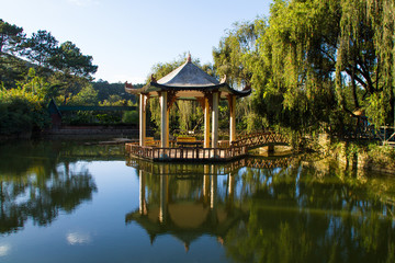 Gazebo on a pond