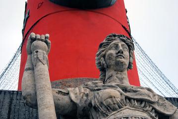 Rostral column detail, Saint-Petersburg, Russia.
