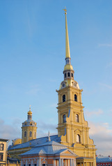 Peter and Paul fortress in Saint-Petersburg, Russia.