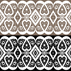 White lace seamless pattern textile background