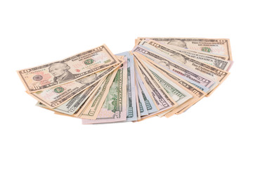 Heap of dollar bills.
