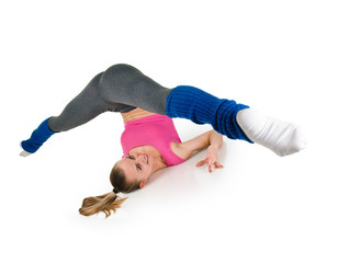 Fitness woman splits