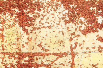 texture of rusty pieces of iron