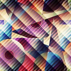 Pattern in retro cubism style.