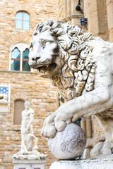 Sculpture of the Renaissance in Piazza della Signoria in Florenc