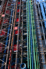 France, the picturesque Beaubourg center of Paris