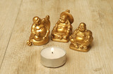 Three Buddha figurines