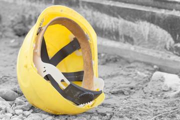 Protective construction helmet.