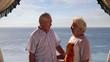 Senior couple enjoying their summer vacation