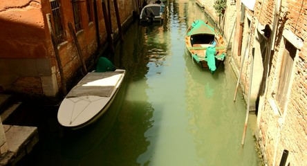 Venice Canal Boats Travel Italy Vintage House Summer European