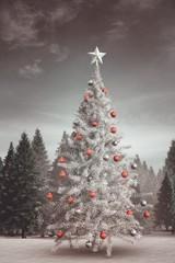 Composite image of christmas tree
