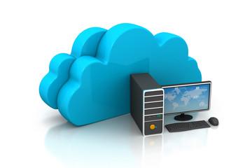 cloud computing concept .