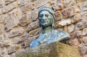 A bust of Dante Alighieri, Florence, Italy.
