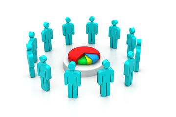 Investors dividing the profit , business success concept .